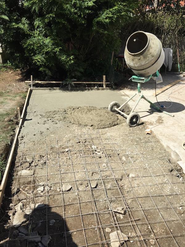 B ton extension d 39 une terrasse 94 for Terrasse en hauteur beton