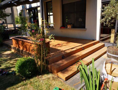 Terrasse en bois dans le 77