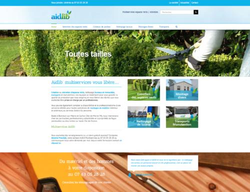 Nouveau site entretien jardins 94 Aidlib !