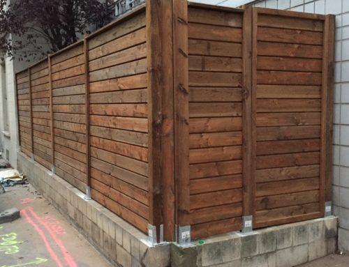 Montage de panneaux bois occultants Paris 14