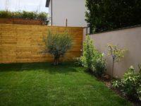 Bardage et pelouse rouleaux - Pavillon Saint-Maur-des-Fossés - Aidlib amenagement jardin 94