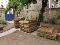 maison alfort arrivage des rouleaux a gazonAidlib jardinier paysagiste