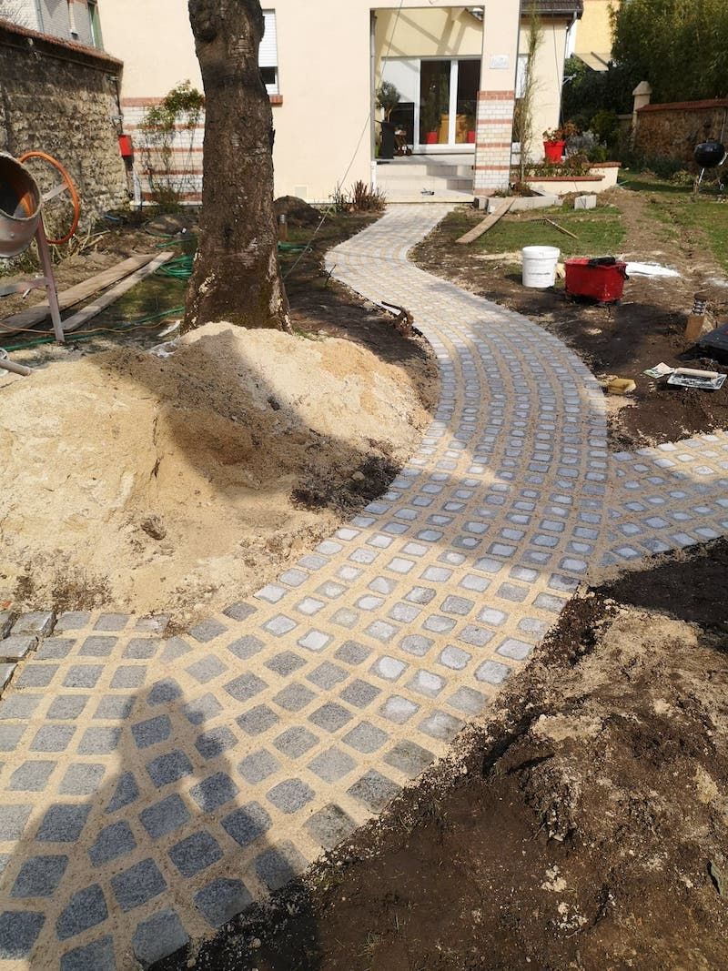 maison alfort pave joint Aidlib jardinier paysagiste