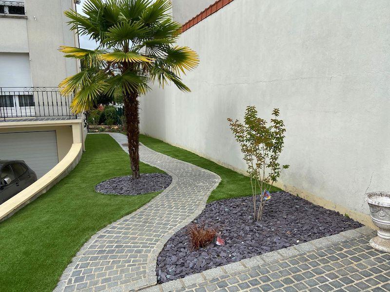 Création jardin paysager Crosne 91